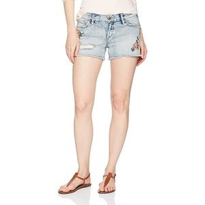 Silver Jeans Aiko Embroidered Denim Jean Shorts